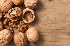 Walnuts Healthy Fruit Rustic Still Life royalty free stock photography