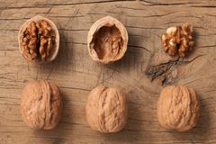 Walnuts Healthy Fruit Rustic Still Life stock images