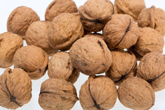 Walnuts heap Stock Images