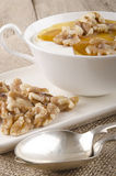 Walnuts with honey and yogurt Stock Photography