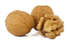Walnuts isolated Royalty Free Stock Photos