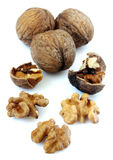 Walnuts isolated Royalty Free Stock Images