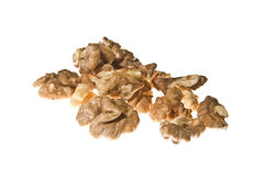 Walnuts isolated on the white Stock Photo