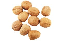 Walnuts isolated on white Stock Images