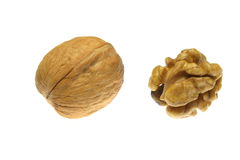 Walnuts isolated on white background Stock Photos