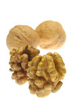 Walnuts isolated on white background Royalty Free Stock Photos