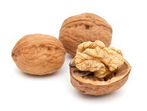 Walnuts isolated on white Royalty Free Stock Photo