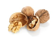 Walnuts. Isolated on white background Stock Photo