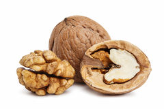 Walnuts, isolated on a white Royalty Free Stock Photography