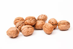 Walnuts. Isolated on the white background Royalty Free Stock Photography