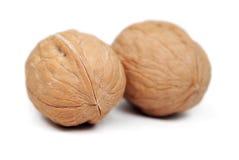 Walnuts isolated on white. Background Royalty Free Stock Image