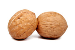 Walnuts isolated on white. Walnuts isolated on white background Royalty Free Stock Images