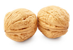 Walnuts. Isolated on white background stock photos