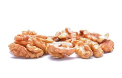 Walnuts isolated on white background Royalty Free Stock Photography