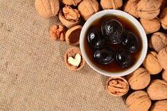 Walnuts jam Stock Photography