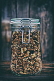 Walnuts in a jar Royalty Free Stock Images