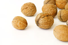Walnuts. A large pile, large size Stock Photo