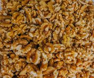 Walnuts, loose without the shell. stock image