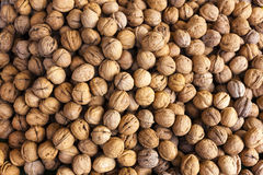 Walnuts. Market in Forcalquier, Provence, France Stock Photos