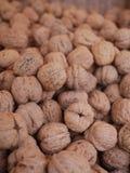 Walnuts market organic Royalty Free Stock Photo
