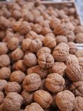 Walnuts market organic Royalty Free Stock Photo