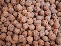 Walnuts market organic Stock Photos