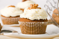 Walnuts Muffins Stock Photo
