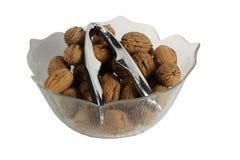 Walnuts with nutcracker Stock Photography