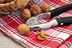 Walnuts and Nutcracker Royalty Free Stock Photography