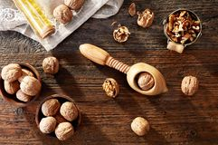 Walnuts from above Royalty Free Stock Image