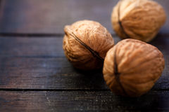Free Walnuts On Rustic Wooden Board Royalty Free Stock Photos - 16684648