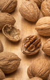Walnuts with open nut Stock Image