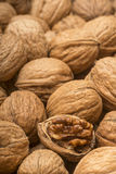 Walnuts with open nut Stock Images