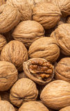 Walnuts with open nut Stock Photo