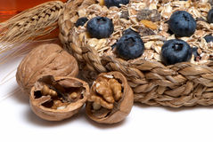 Walnuts And other dietary products Stock Images