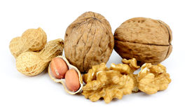 Walnuts and peanuts Stock Photography