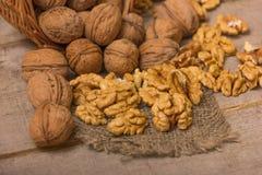 Walnuts Pile Stock Image