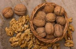Walnuts Pile Royalty Free Stock Photos