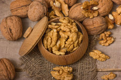 Walnuts Pile Stock Photo