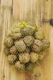 Walnuts in plastic bag Stock Image