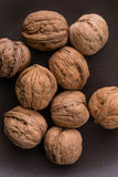 Walnuts. On a plate stock images