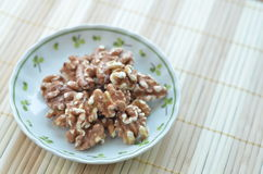 Walnuts on a Plate Stock Image