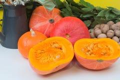 Walnuts pumpkin Royalty Free Stock Photos