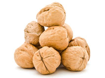 Walnuts pyramid Royalty Free Stock Photography