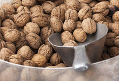 Walnuts for Sale. Walnuts on display at a market stall Royalty Free Stock Photo
