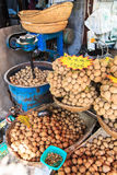Walnuts for sale at a market stall Royalty Free Stock Photography