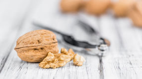Walnuts selective focus, close-up shot Stock Photo