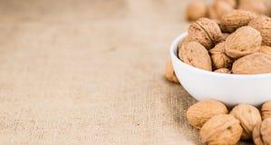 Walnuts selective focus, close-up shot Stock Photos