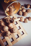 Walnuts with shell Stock Images