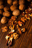 Walnuts with shell Stock Photos